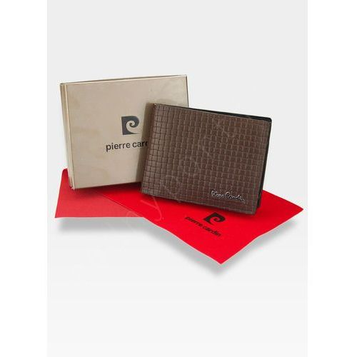 b1bba70d04bf8 Pierre Cardin Modny portfel męski oryginalny skórzany przeplatana skóra cmp  8806 rfid - brązowy Pierre cardin