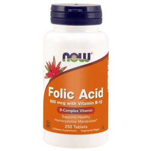 Now Foods Kwas Foliowy 800 mcg 250 tabletek (0733739004765)