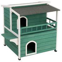 Weranda domek dla kotów i małych psów - dł. x szer. x wys.: 91,5 x 71 x 82 cm  -5% rabat dla nowych klientów  dostawa gratis + promocje marki Zooplus exclusive
