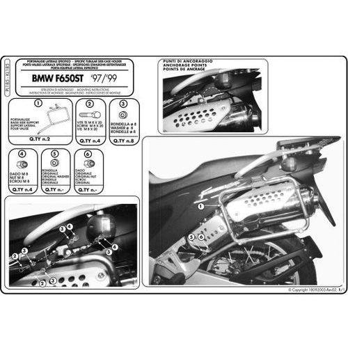 Pl185 Stelaż Kufrów Bocznych Monokey Bmw F 650 St 97 99 Givi