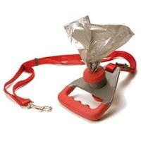 Smycz z pojemnikiem na woreczki na kupy - 1,5 cm pasek
