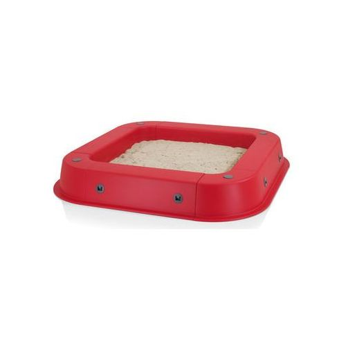 Kettler piaskownica z plandeką kolor czerwony (4001397387077)
