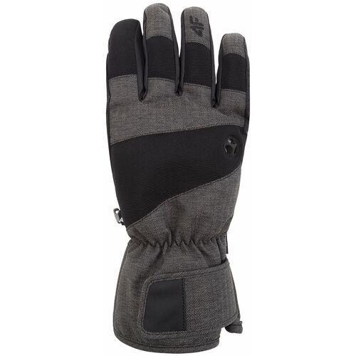 Rękawice narciarskie męskie REM256Z - jasny szary melanż