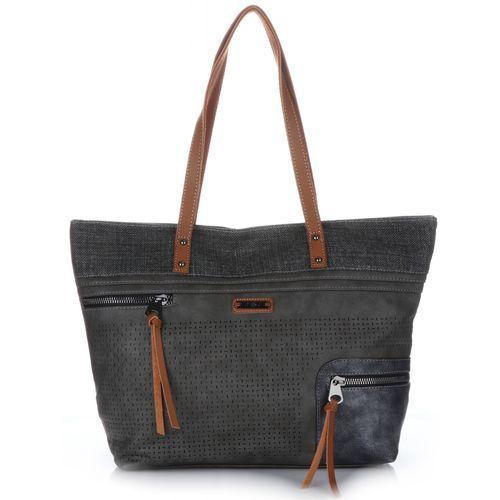 d92fc6aea1ed4 David jones Oryginalne ażurowe torebki damskie firmy z możliwością  poszerzenia czarne (kolory) - galeria