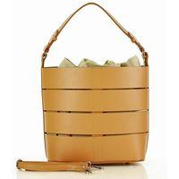 Camelowa torba skórzana marco mazzini