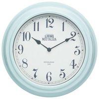 Zegar ścienny Living Nostalgia niebieski, LNCLOCKBLU