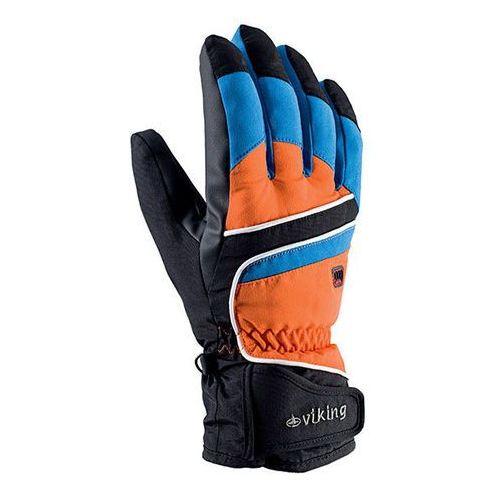 Rękawice narciarskie biset - czarno-niebiesko-pomarańczowy marki Viking