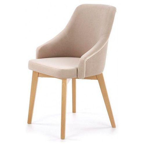 Krzesło Drewniane Altex 2x Beż Dąb Miodowy Producent Elior