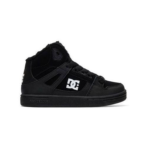 Dc pure high-top wnt black/black/white obuwie dziecięce na zimę - 37eur (3613374037700)