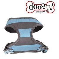 Doogy klasyczne i wygodne szelki dla psa, niebiesko-szare, DOG-N5001