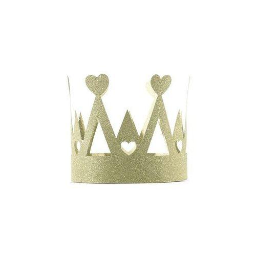 Korona królowej Sweet love - złota - 1 szt.