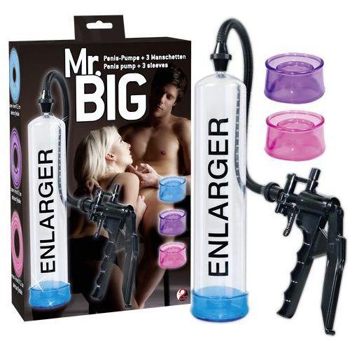You 2 toys Długa pompka do powiększania penisa 3 uszczelki mr. big 504289
