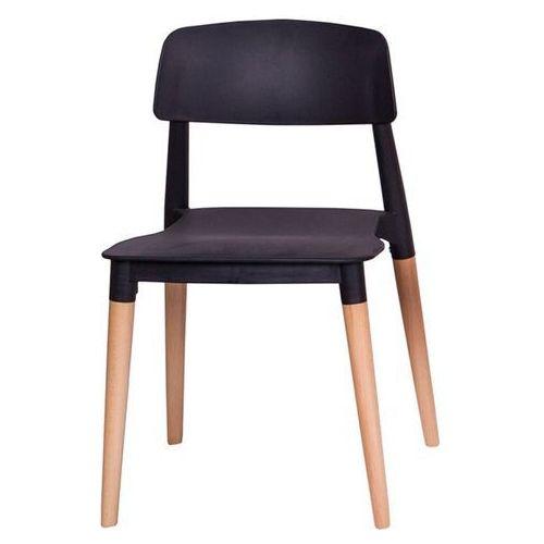 King home Krzesło ecco premium czarne - polipropylen, buk