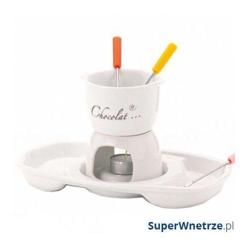 Zestaw do fondue Kela Praline biały