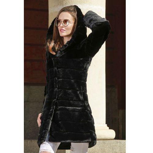 Płaszcz damski PUHANA BLACK, kolor czarny