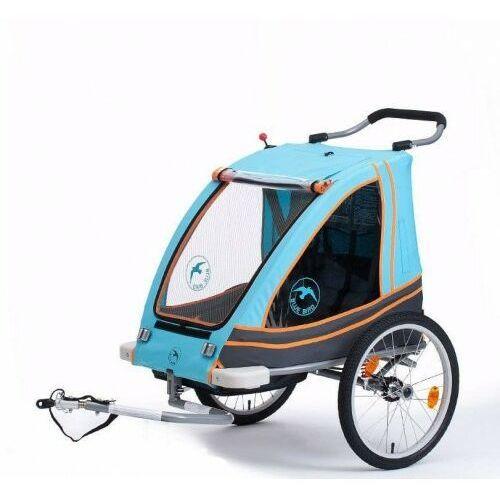 Blue bird Przyczepka rowerowa aluminiowa lekka składana dla dzieci 2w1+ wózek pełna amortyzacja