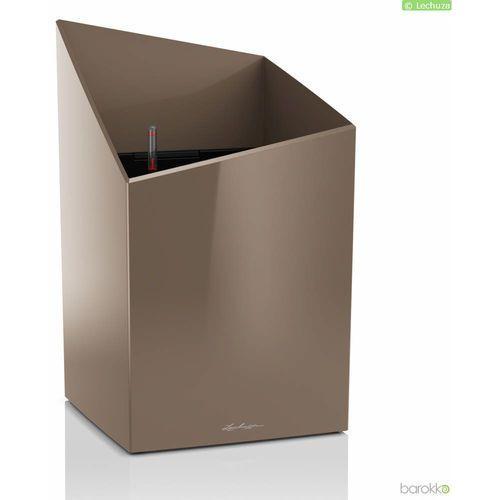 Zdjęcie produktu Donica cursivo premium 30 - taupe (kawa z mlekiem), połysk - kawa z mlekiem marki Lechuza