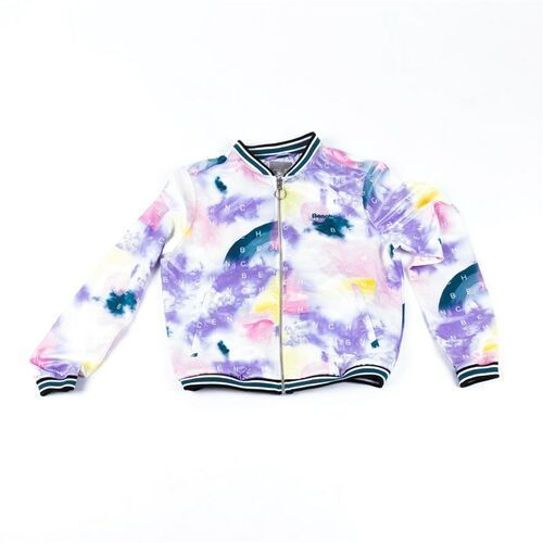 Bench Kurtka - bomber with aop and tippings tied dye letter aop (p1186) rozmiar: l