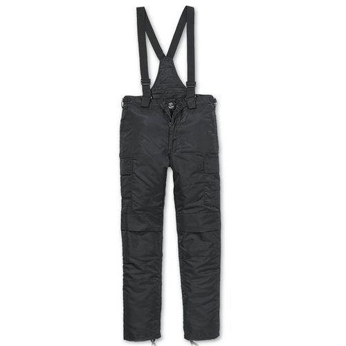 Brandit Spodnie Ocieplane Ogrodniczki Thermo Next Generation Czarne - Czarny (4051773037171)