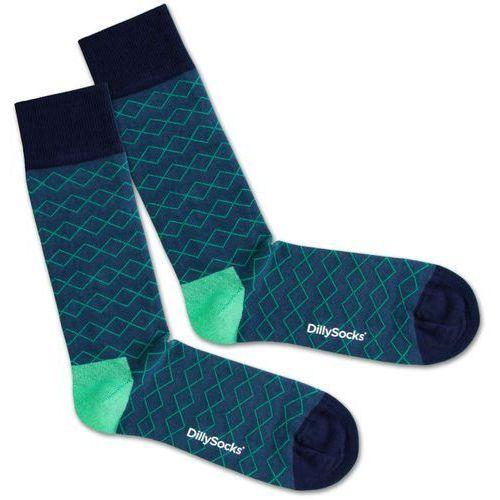DillySocks Skarpety 'Under Water Lines' niebieski / zielony / czarny (7640172495810)