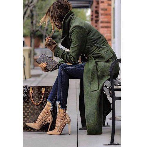 Płaszcz SILVESTRA, kolor zielony
