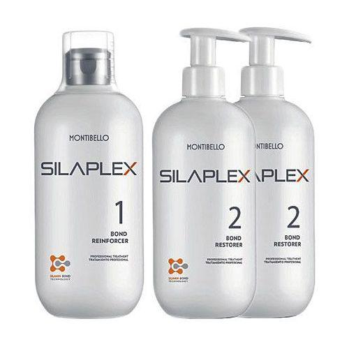 Montibello SILAPLEX KIT Kompletny zestaw do wzmacniania włosów No1+2xNo2 3x500ml (8429525414109)