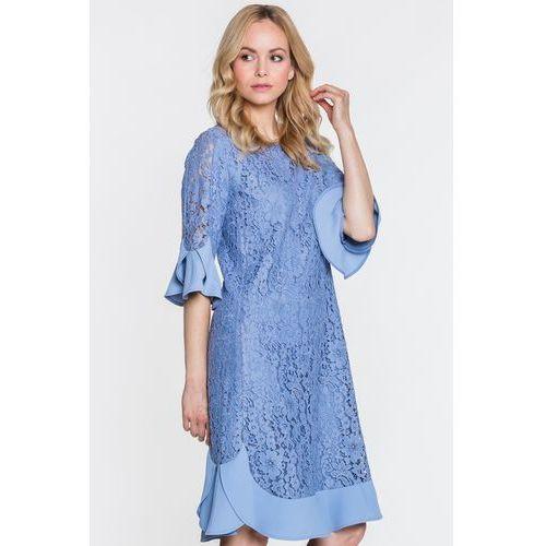 163ab21240267c Zobacz ofertę Koronkowa sukienka z falbanami - Paola Collection