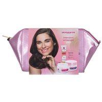 Dermacol Collagen+ SPF10 zestaw Krem na dzień SPF 10 50 ml + Krem na noc 50 ml + Serum do twarzy 12 ml + Kosmetyczka dla kobiet