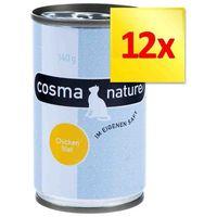Zestaw Cosma Nature, 12 x 140 g - Pierś z kurczaka i tuńczyk (4260077042914)