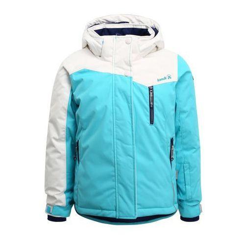 kurtka narciarska w kolorze morskim kamik