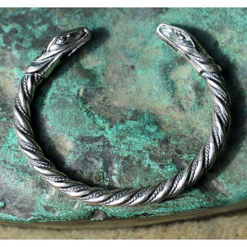 Płatnerze Bransoleta wikingów jÖrmungandr srebro fgj185