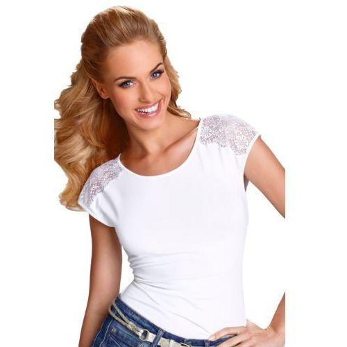 Tosca koszulka bawełniana damska eldar romantica active biała - biały marki Eldar elegance