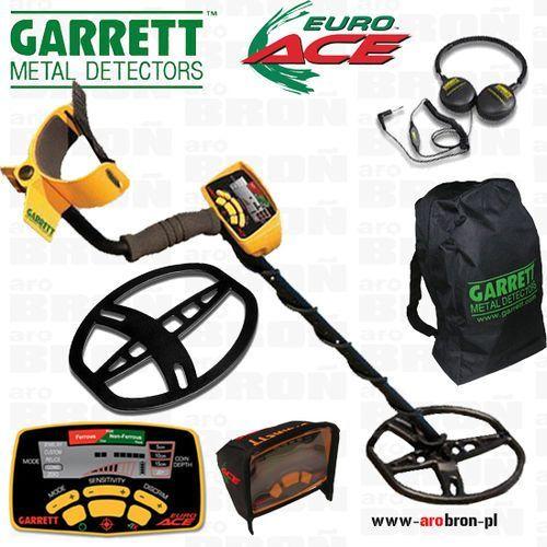 Garrett Wykrywacz metalu euro ace 350 + osłona cewki + 4 akumulatory aa eneloop + słuchawki