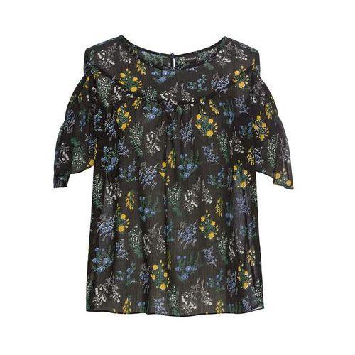 Długa bluzka bonprix ciemnoniebieski, kolor czarny