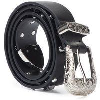 Pasek Damski LIU JO - Belt 3,5 Cm Stud Wes N69217 E0002 Nero 22222