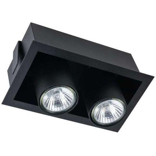 Podtynkowa Lampa Sufitowa Eye Mod 8940 Metalowa Oprawa Prostokątne Tuby Wpuszczane Czarne Nowodvorski