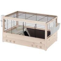 Ferplast  arena 80 drewniana klatka dla świnki z wyposażeniem