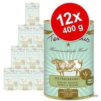 bez zbóż, 12 x 400 g - kurczak z pasternakiem, mniszkiem i rumiankiem marki Terra canis
