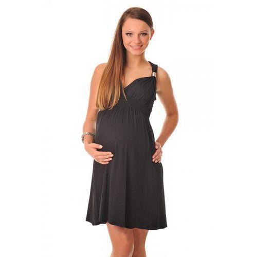 Sukienka ciążowa CATE BLACK, kolor czarny