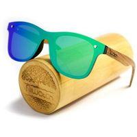 Drewniane okulary przeciwsłoneczne Niwatch Orion Green Mirror