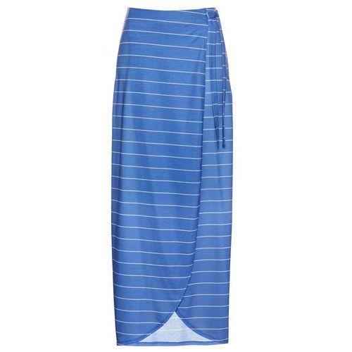 2b5d8e7a08590d Zobacz w sklepie Spódnica z dżerseju bonprix lodowy niebieski - biały w  paski, w 4 rozmiarach