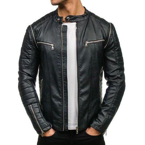Feifa fashion Kurtka męska skórzana czarna denley 9188