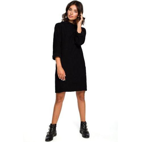 5bed7d2c131566 Zobacz w sklepie B096 Sukienka z kieszeniami na przodzie - czarna, z