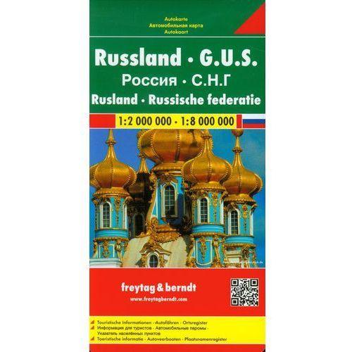 Rosja 1:2 000 000 / 1:8 000 000. Mapa samochodowa, składana. Freytag&Berndt (2010)