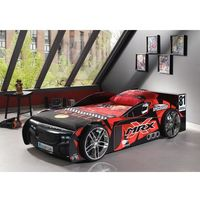 Łóżko auto samochód mr. x black - łóżko dla dziecka, dla chłopca marki Vipack