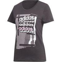 Adidas koszulka damska Linear Tee I /Black L