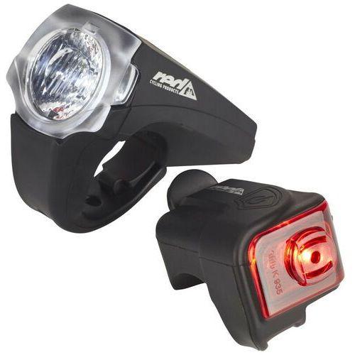 Pro 25 Lux Urban Led Zestaw Oświetlenia Rowerowego Black 2019 Lampki Na Baterie Zestawy Red Cycling Products