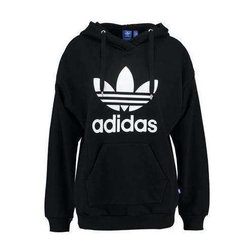 adidas Originals TREFOIL Bluza z kapturem black, bawełna