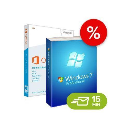 Microsoft Windows 7 professional + office 2013 home and business (w7-o13-esd) elektroniczny certyfikat