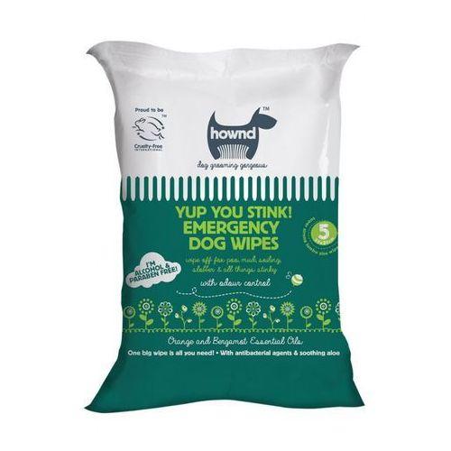 Hownd - yup you stink! emergency dog wipes! - chusteczki nawilżane dla psów, 5 szt